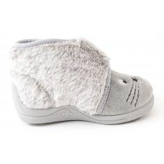 Bellamy Chausson bébé fille tissu à velcro TOR gris