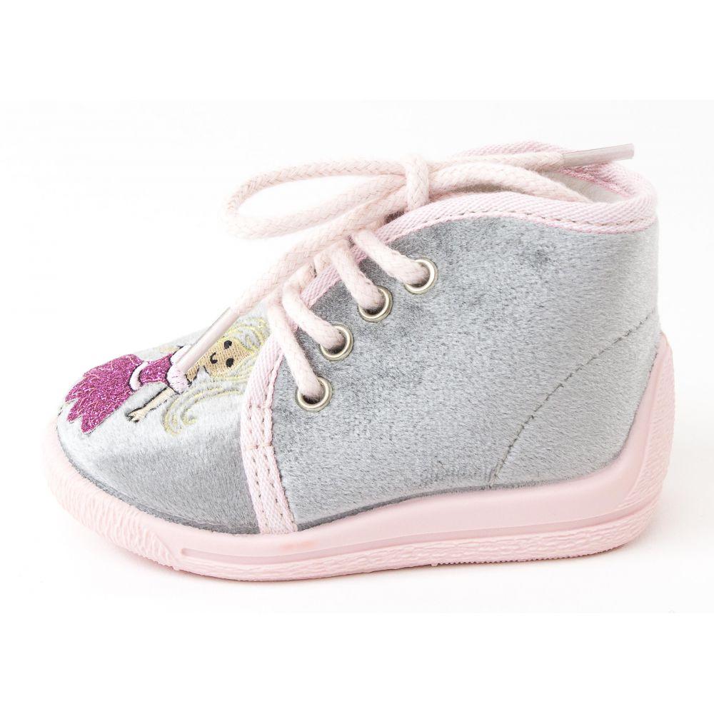 acheter en ligne 2561d a7315 Bellamy Chausson bébé fille tissu à lacet Tais gris