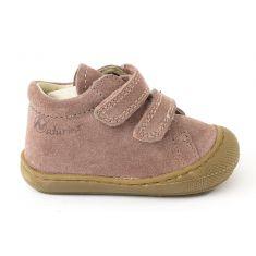 Naturino COCOON Chaussures bébé premiers pas souple fille en cuir à scratchs