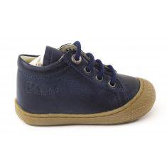 Naturino COCOON bleu marine Chaussures bébé premiers pas souple garçon en cuir