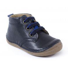 Boots cuir à lacets garçon Froddo - Chaussant large 1er pas bébé garçon
