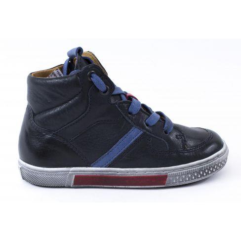 82e3f61ec6e69 Froddo Baskets montantes cuir garçon bleu marine à lacets