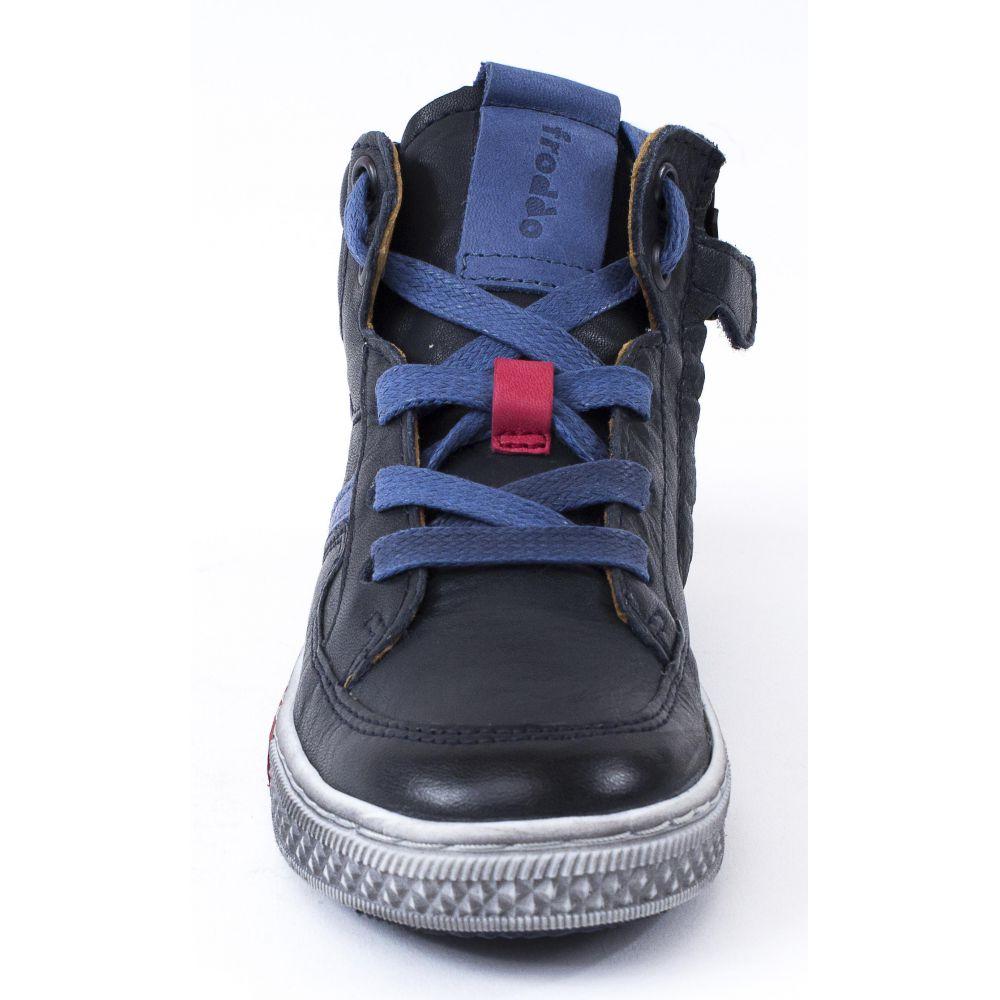 meilleur authentique prix raisonnable rechercher l'original Froddo Baskets montantes cuir garçon bleu marine à lacets