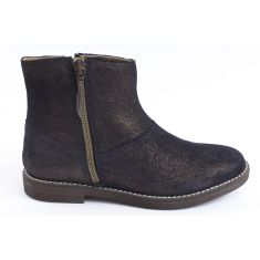 Bottines irisées bronze et or GINZA ZIP