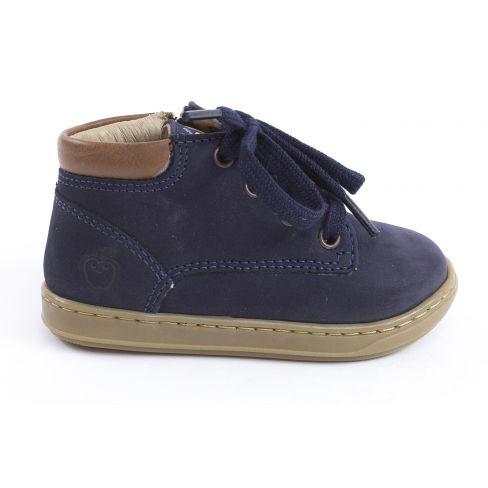 Shoo Pom BOUBA ZIP DESERT - Boots garçon bleu avec fermeture