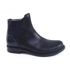 Bottines fille ado cuir noir Bellamy LUCIE