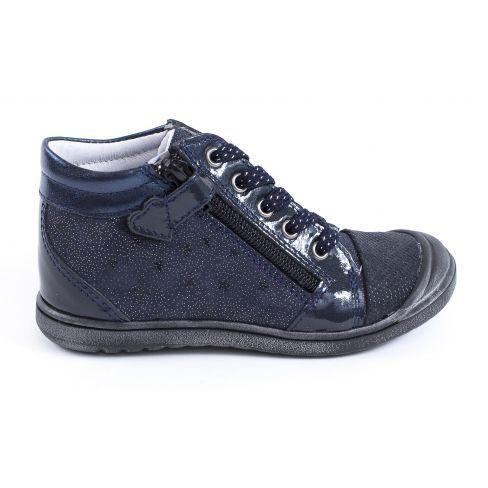 Bellamy Boots fille noires à fermeture et lacets VANDA