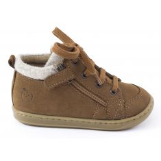 Shoo Pom BOUBA ZIP WOOL - Boots garçon marron avec fermeture