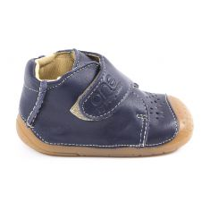 Chaussures bébé garçon - Babybotte Bottines bébé garçon à velcro 4 pattes ZEN bleu