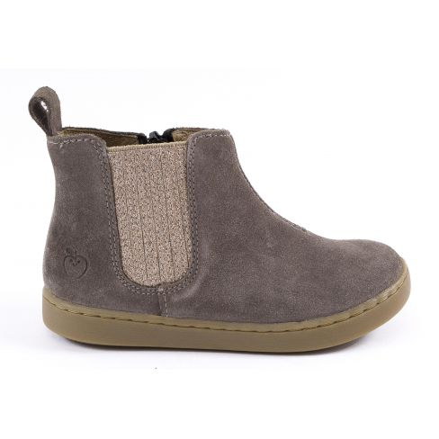 Shoo Pom Boots fille cuir marron à élastique PLAY SHINE