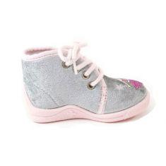 Bellamy Chausson bébé fille tissu à lacet Tais gris
