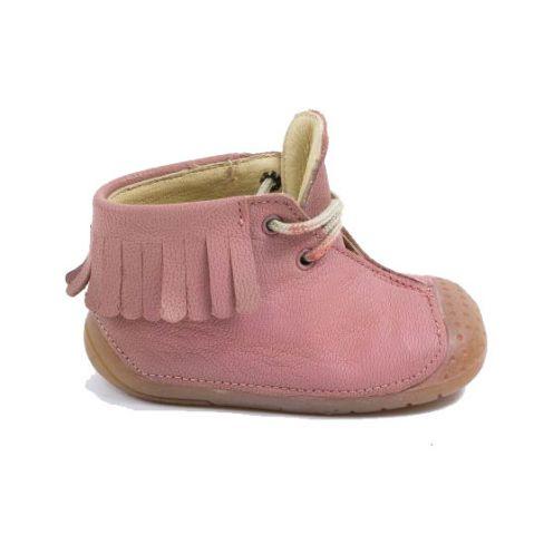 f5b79b8cd5d3e Babybotte bottines à franges bébé fille à lacets ZIPY rose 4 pattes ZEN