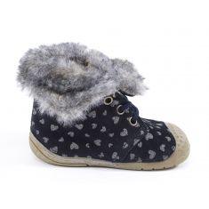 Babybotte Boots à lacets bleu marine pour fille ZOUK