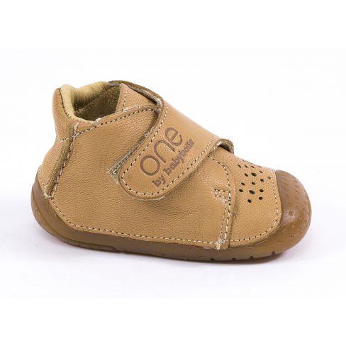 b0f41a8dcd3cd0 Chaussures bébé garçon - Babybotte Bottines bébé garçon à velcro 4 pattes  ZEN marron