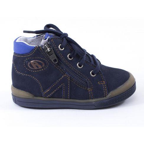 Babybotte Chaussures enfant garçon 1er pas B3 bleu à fermeture velcro