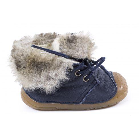 Babybotte Boots à lacets bleu marine pour fille ZOUK ZOUKFL