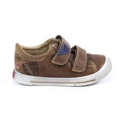 GBB Sneakers tan cuir enfant garçon SEBASTIEN