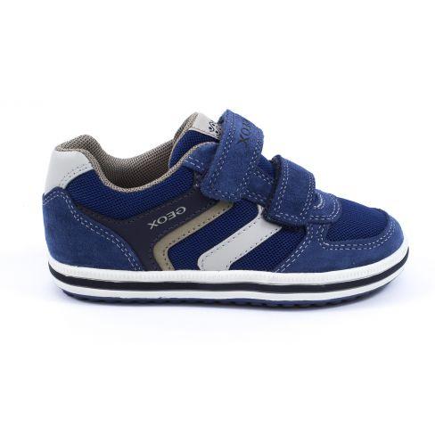 Geox Sneakers garçon bleu à scratch VITA