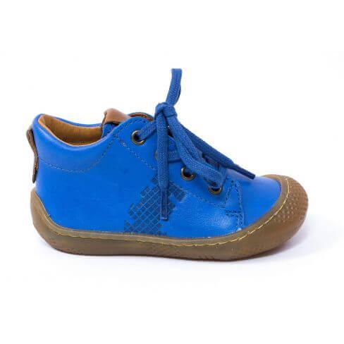 Babybotte ANDY Baskets Bébé debout à lacet garçon bleu