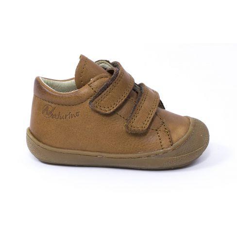 418d7979217c0 Naturino COCOON Chaussures bébé premiers pas souple garçon cognac à scratch  en cuir