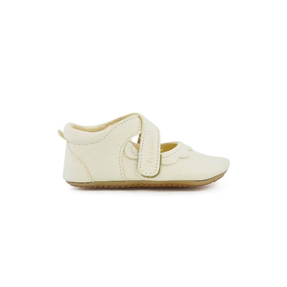 db45446a593eb Froddo Chaussures babies bébé fille pré-marche en cuir blanc ...