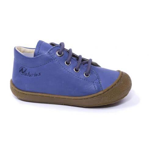 Naturino COCOON bleu céleste Chaussures bébé à lacet premiers pas souple garçon en cuir