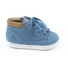 Boots SHOOPOM à zip et lacets bleu BOUBA ZIP DESERT SKY