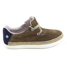 Gioseppo sneakers en nubuck camel à lacet 47308