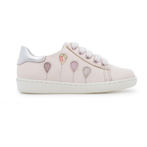 Sneakers SHOO POM à zip et lacets rose multi DUCKY BALLOON rose nude