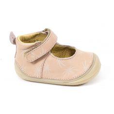 Babybotte Chaussure de bébé debout fille en cuir Ziara cuir nude