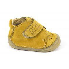 Chaussures bébé garçon - Babybotte Bottines bébé garçon à velcro 4 pattes Zenitude cuir camel