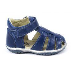 Sandales Noel en cuir pour garçon MINI TIN bleu