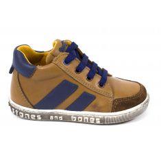 Sneakers Stones and Bones SCUP à lacets et fermeture cognac