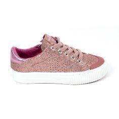 Sneakers à lacets TRIBU GLITTER FINO rose brillant Victoria 1065130