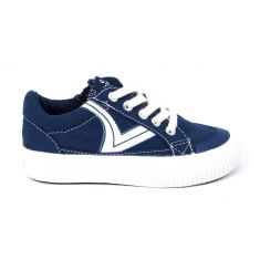 VICTORIA Sneakers à lacets bleu TRIBU LONA retro 1065144
