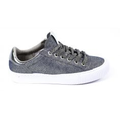 Sneakers à lacets gris lurex TRIBU MODA Victoria 1165103