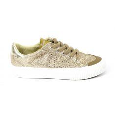 Sneakers à lacets TRIBU GLITTER fino lurex or Victoria 1065130