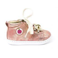 Boots SHOO POM à zip et lacets corail platine BOUBA ZIPPY