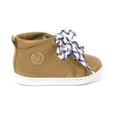 Boots garçon SHOOPOM à lacets camel BOUBA PAD LACE