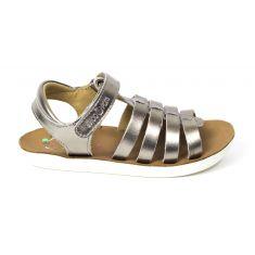 Sandales SHOO POM à scratch or bronze GOA SPART à lanières