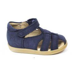 Sandales SHOO POM à scratch bleu PIKA BE BOY semelle souple