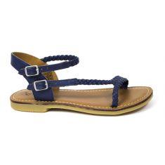 Sandales ADOLIE à boucle marine LAZAR BI STRIPES NAVY