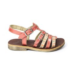 Sandales fille GBB pieds fins corail BANGKOK