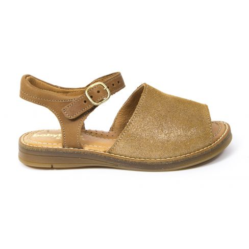 Sandales tendance tan or en cuir pour fille KAKTUS