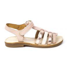 Sandales plates à lanières chic YLIANA NUDE à scratch