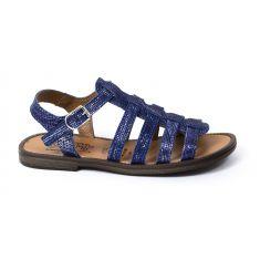 Sandales cuir fille bleues Bellamy à boucle IRMA