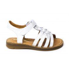 Sandales plates à lanières tressées blanches KAROUSEL