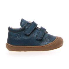 Naturino COCOON Chaussures bébé premiers pas souple garçon bleu jean à scratch en cuir
