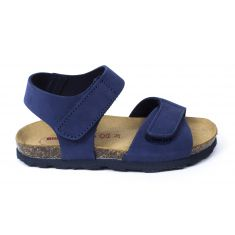 BIONATURA Nu-pieds garçon en cuir bleu marine 5486 Charmen bio flor
