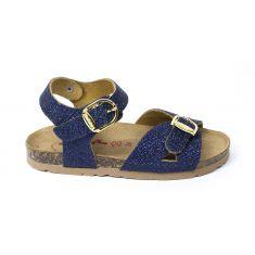 BIONATURA Sandales fille bleu semelle intérieure cuir charmen